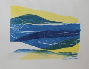 De blå fjelde i gult